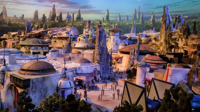 STAR WARS-THEMED LAND MODEL AT D23 EXPO—The epic, fully detailed model of theStar Wars-themed lands under development at Disneyland park in Anaheim, Calif.