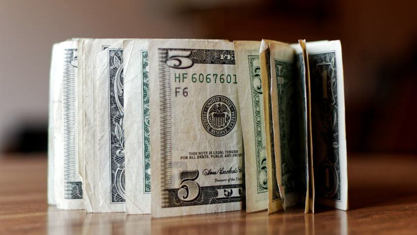 $5 bills cash