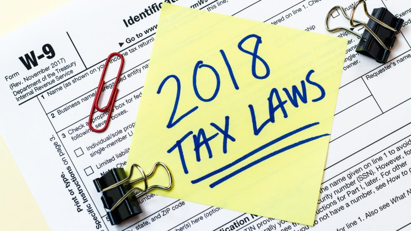 A 2018 Federal income tax laws W9 form.