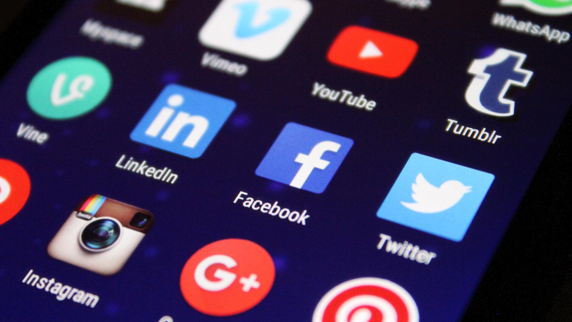 apps, smartphone, social media