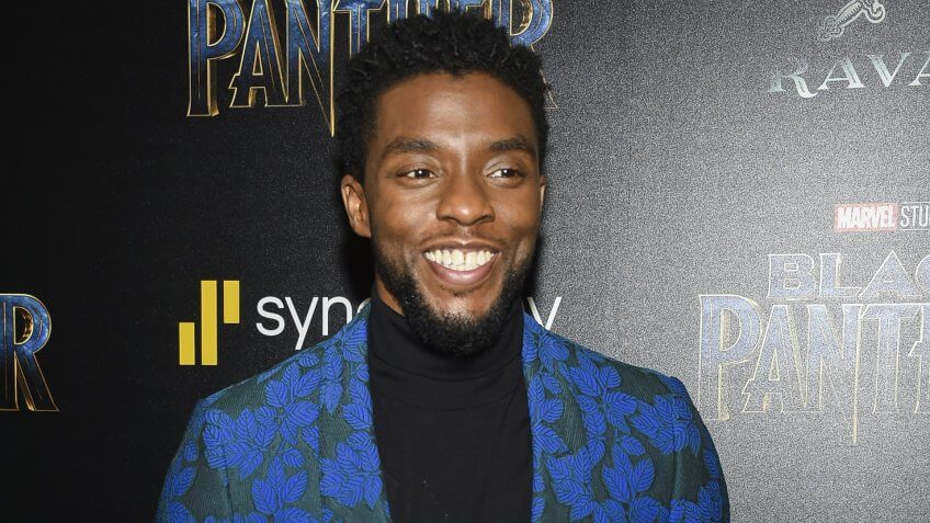 """Mandatory Credit: Photo by Evan Agostini/Invision/AP/REX/Shutterstock (9375917cd)Chadwick Boseman attends a special screening of """"Black Panther"""" at the Museum of Modern Art, in New YorkNY Special Screening of """"Black Panther"""", New York, USA - 13 Feb 2018."""