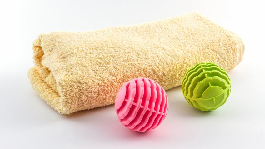 Colorful of washing ball, plastic balls for washing machine.