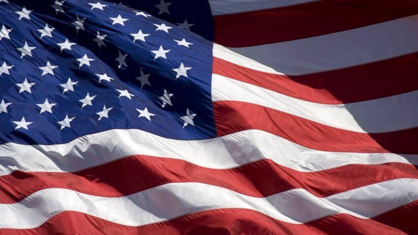 American flag, Objects, USA, flag