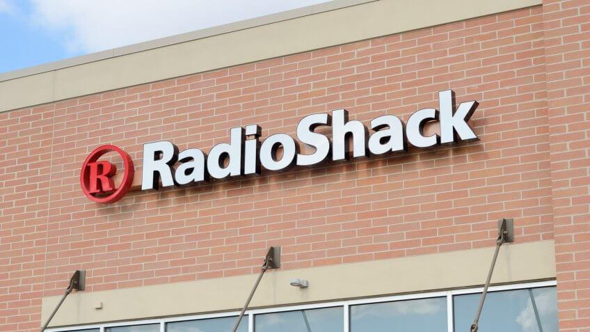 The RadioShack store off Adams Road in Auburn Hills, Michigan.
