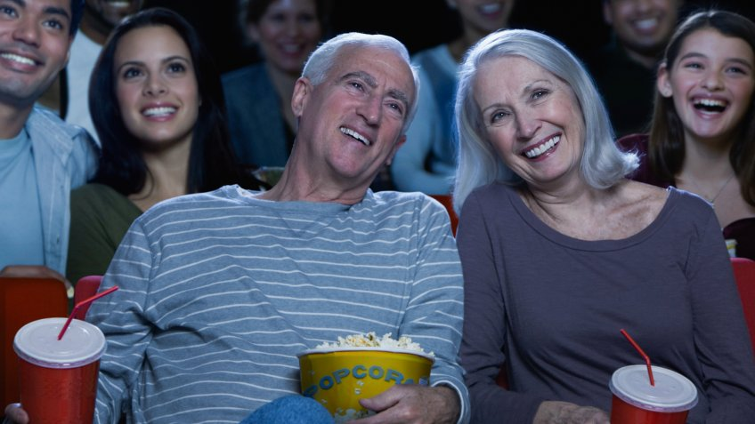 older couple at the movies