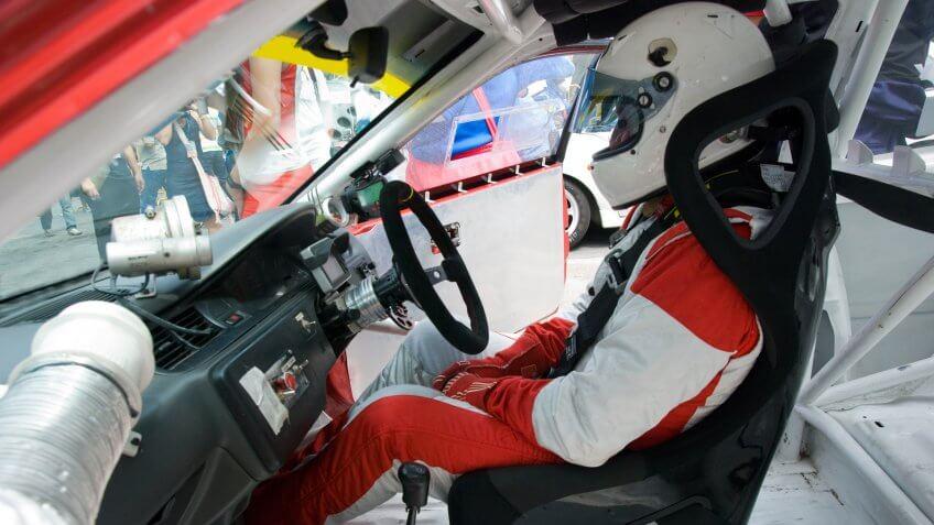 driver, race car, racing