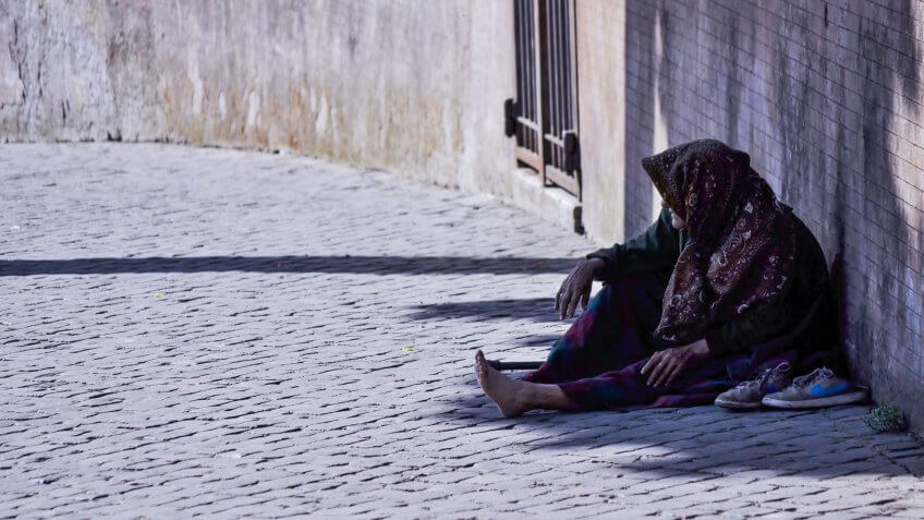 homeless, impoverished, poor