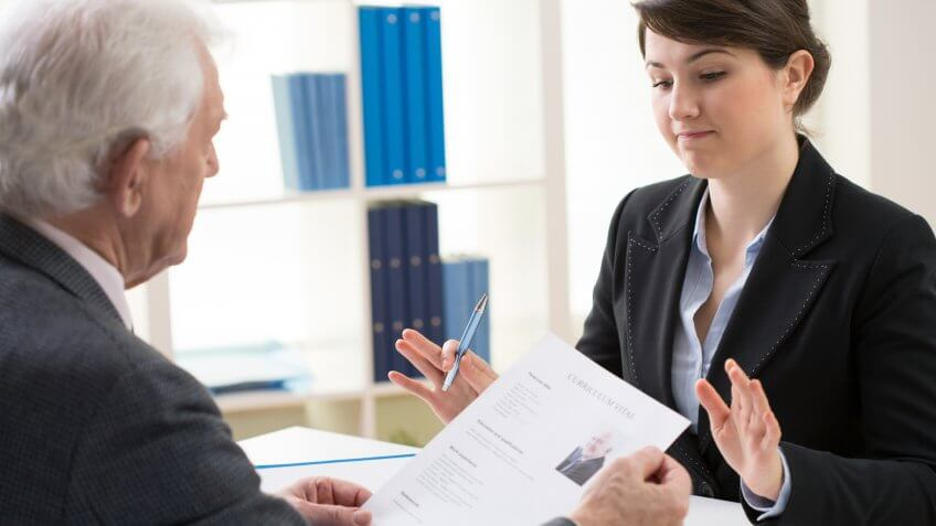 elderly man, hiring manager, job application, job applying, recruiter, rejection, senior