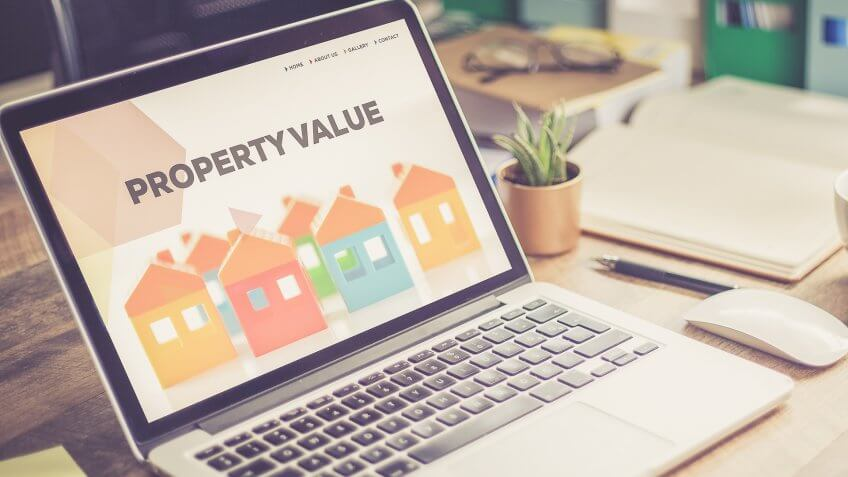 checking property values on a laptop