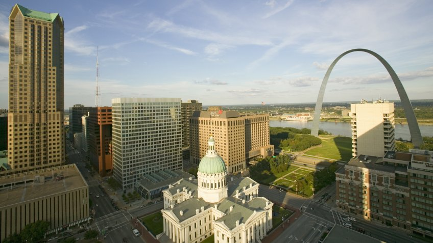 Cities, Missouri, downtown, hotels