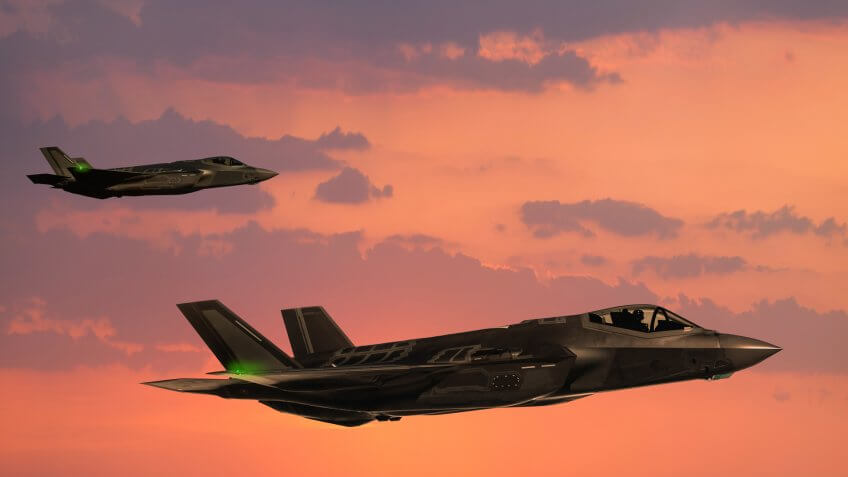 F-35 Fighter Jets in flight