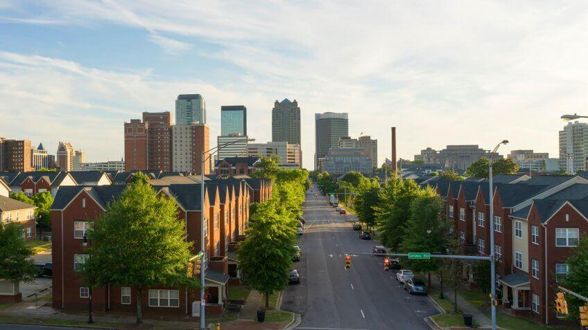 Sunset Downtown City Skyline Birmingham Alabama Carraway Blvd