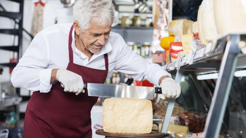 Adult, cheese, cheesemonger, elderly, employee, mature, senior, worker