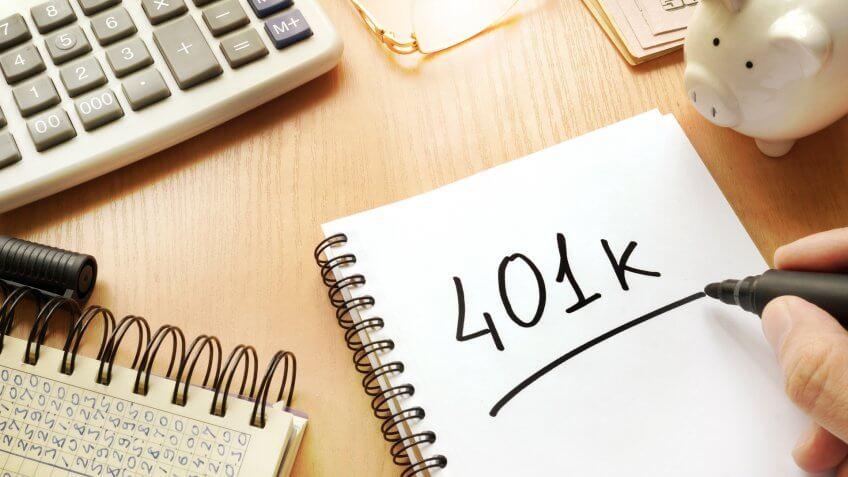 401k written in a note.