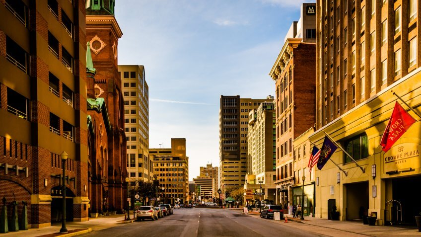 Cities, Pennsylvania, downtown, hotels
