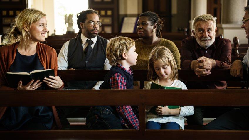 Church People Believe Faith Religious.