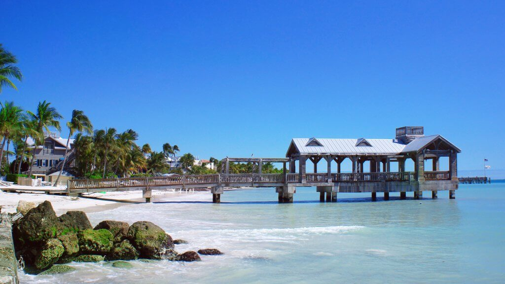 Old pier at Key West, Florida Keys, USA.