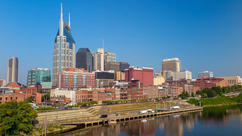 Cities, Tennessee, downtown, hotels