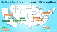 The Best and Worst Cities to Be Making Minimum Wage