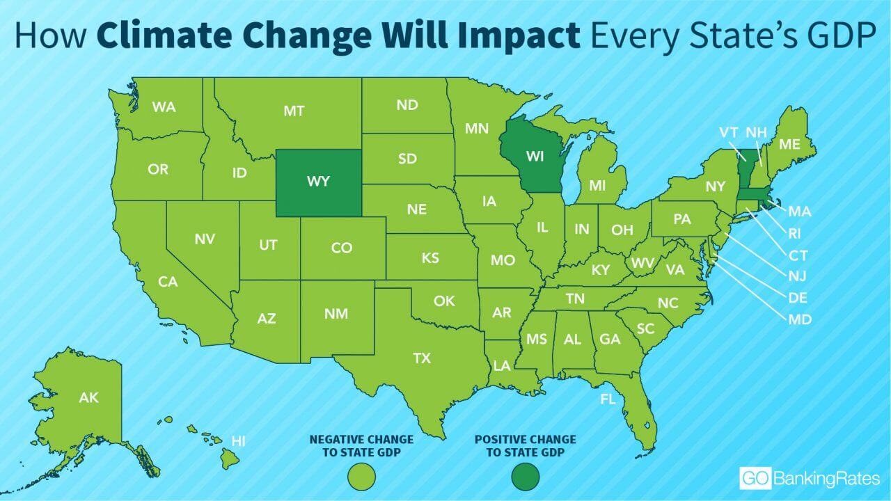 How Much Climate Change Will Cost in Each State