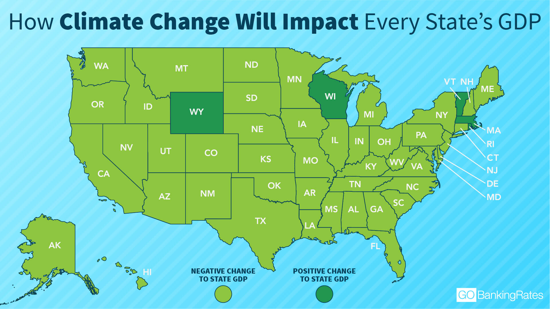 How Climate Change Will Impact Every State's GDP