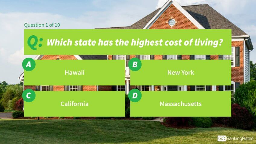 Which state has the highest cost of living?