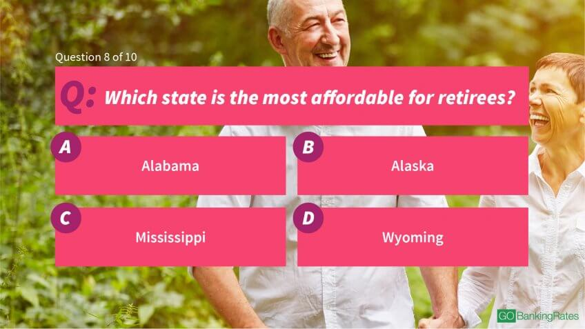 Which state is the most affordable for retirees?