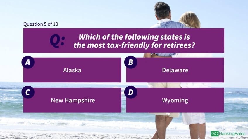 Which of the following states is the most tax-friendly for retirees?