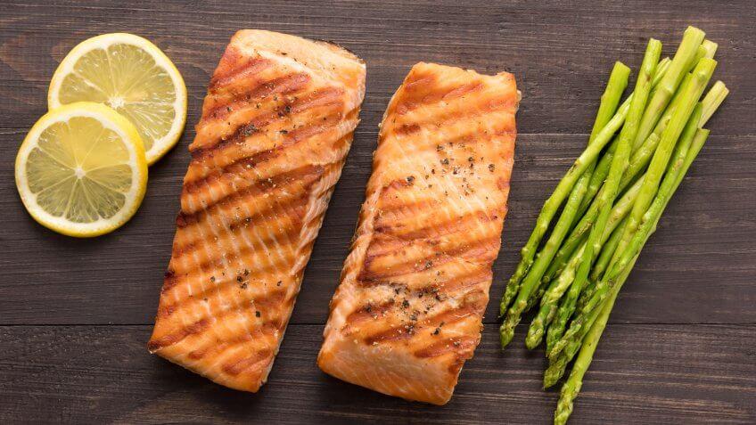 grilled salmon, salmon