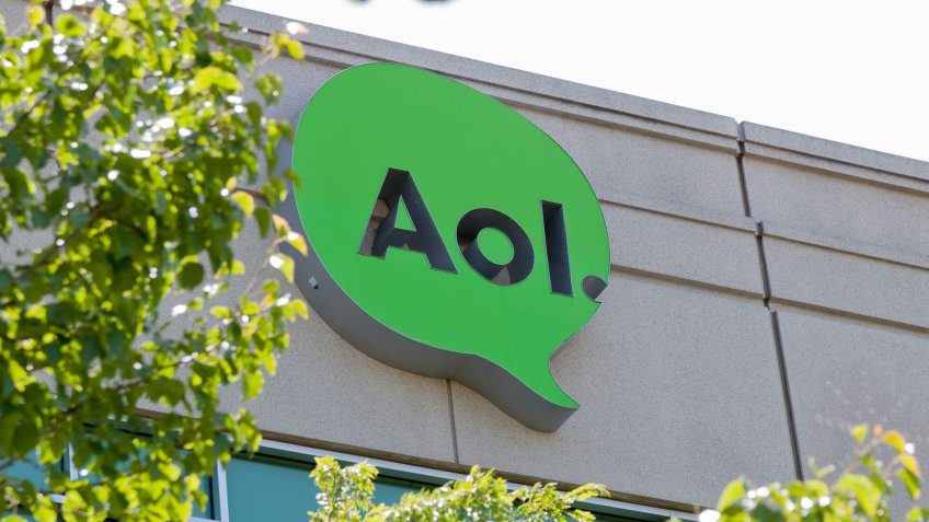 Palo Alto, USA - May 4, 2012: AOL's West Coast Headquarters opened in 2011 at 395 Page Mill Road.
