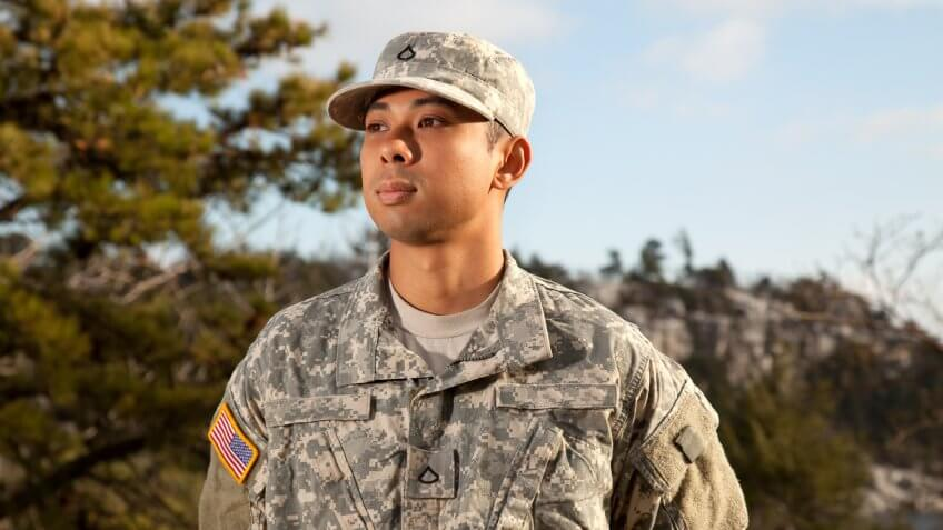 A young American soldier portrait.