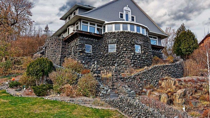 Autumn, House, Minnesota, Stone, duluth mn, fall, home, stone house