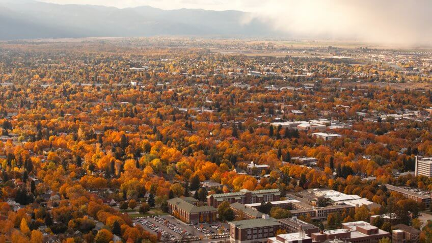 The colorful town of Missoula, Montana.