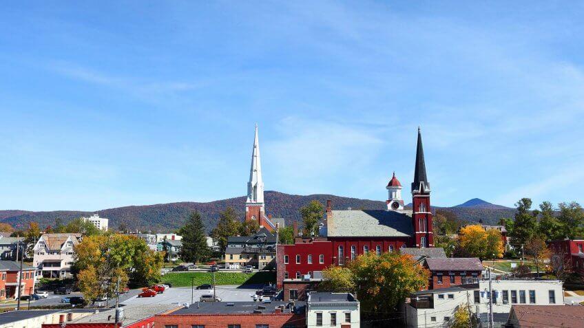 10978, Cities, Horizontal, States, United States, Vermont, america