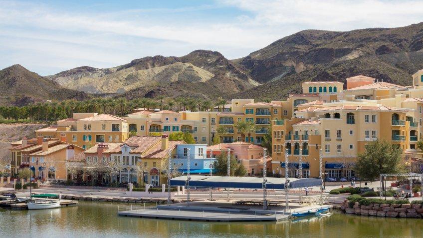 Henderson, USA - February 11, 2014: A photo of  Lake Las Vegas.