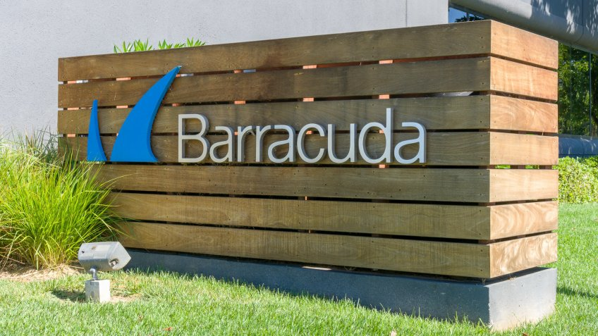 LOS GATOS, CA/USA - JULY 29, 2017: Barracuda Networks headquarters and logo.