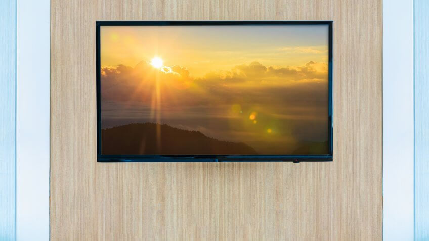 Black LED tv television screen