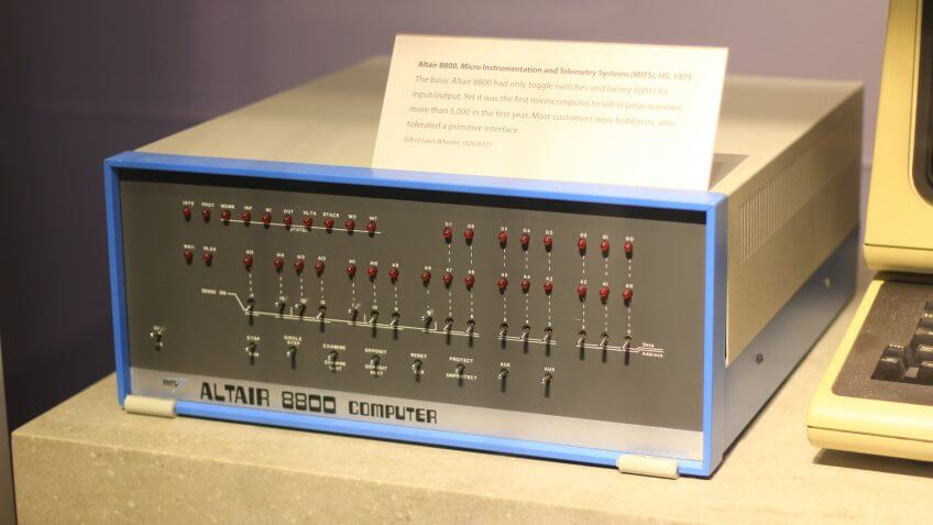 MITS Altair 8800 microcomputer