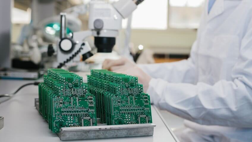 Microchip production factory.