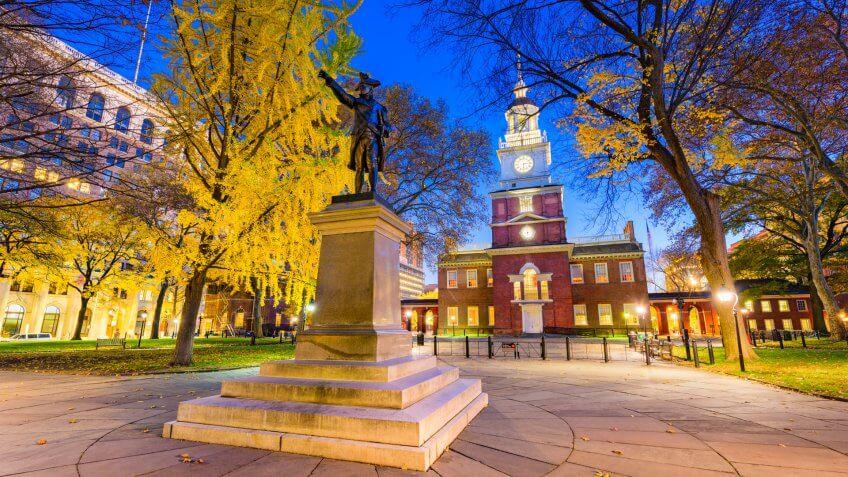 Independence Hall in Philadelphia, Pennsylvania, USA.