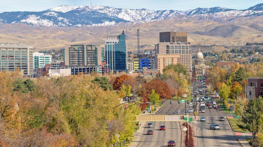 Boise, Idaho, Urban Skyline, City, Autumn.