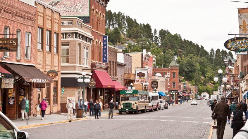 """""""Deadwood, South Dakota, USA - September 14, 2011: View on Upper Main Street in South Dakota."""