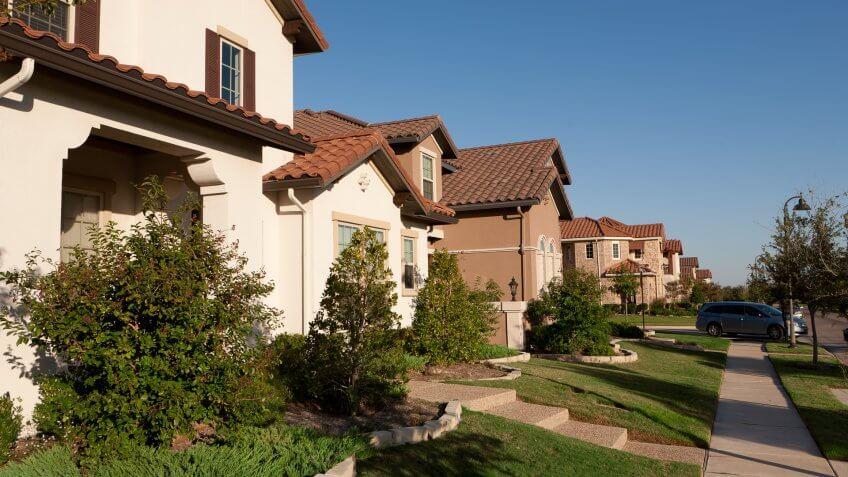 affluent neighborhood in Las Colinas, a suburb of Dallas