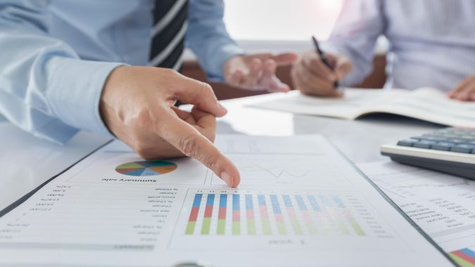 Fund Manager analyze business report to view the performance and return on investment results of the company.