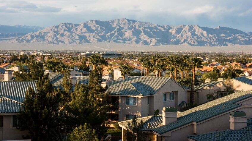 North View Las Vegas Mountain Range Mojave Desert Nevada, USA