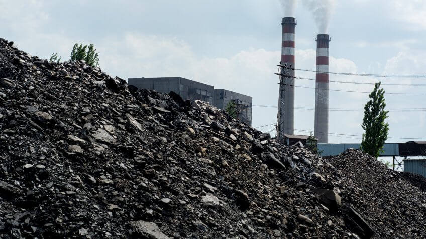 Coal Pile and Pollution.
