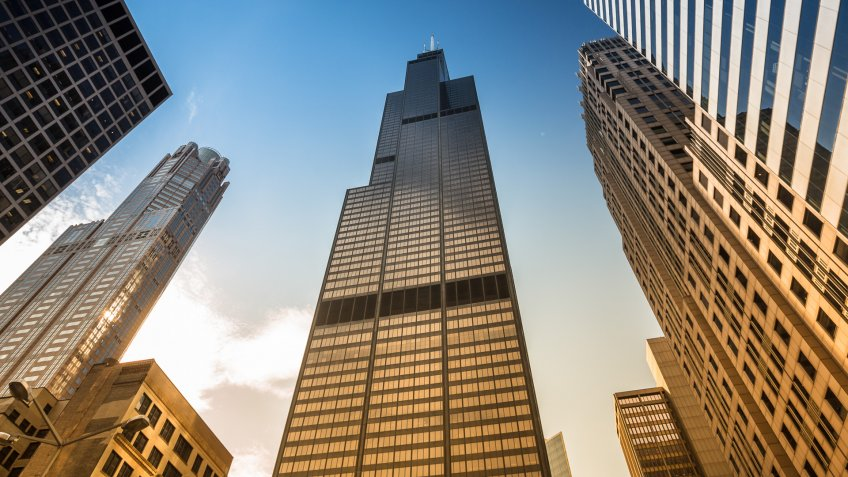 Chicago: The Willis Tower, built as and still commonly referred to as the Sears Tower, is a 108-story skyscraper in Chicago, Illinois, United States.