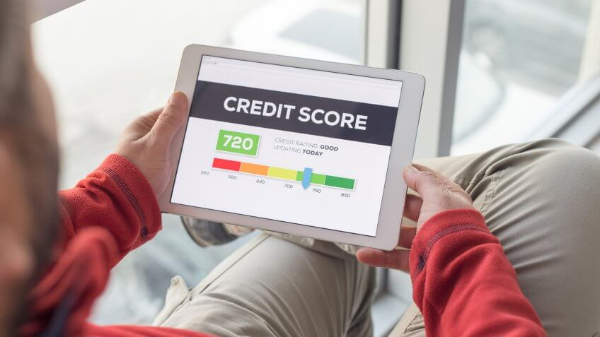 tablet with Credit Score