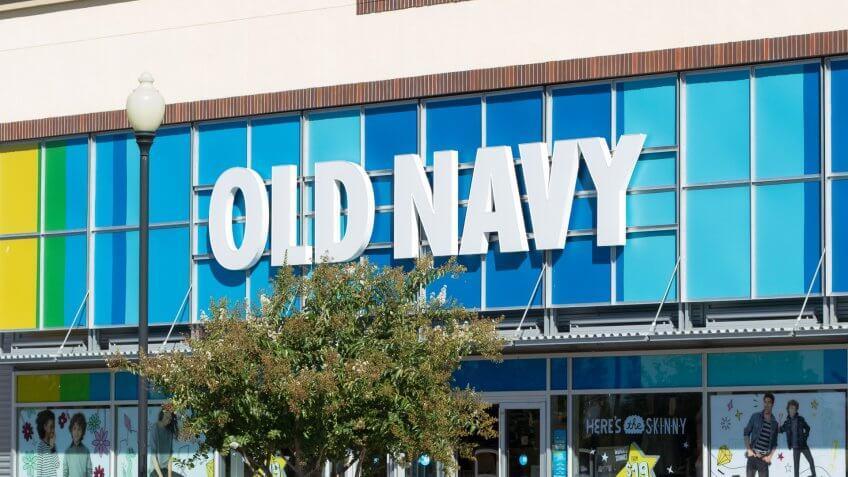 SACRAMENTO, USA - SEPTEMBER 23:  Old Navy store on September 23, 2013 in Sacramento, California.