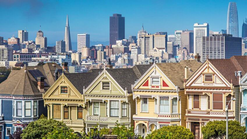 The Painted Ladies of San Francisco, California.